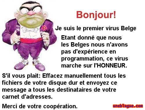 Virus informatique Belge